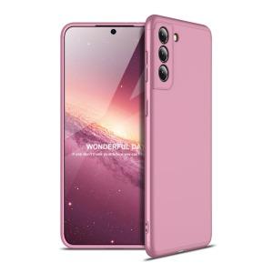 Θήκη GKK Full body Protection 360° από σκληρό πλαστικό για Samsung Galaxy S21 Ultra ροζ χρυσό