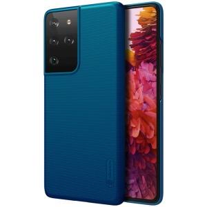 Θήκη Samsung Galaxy S21 Ultra NiLLkin Super Frosted Shield Series Πλάτη από Premium σκληρό πλαστικό μπλε