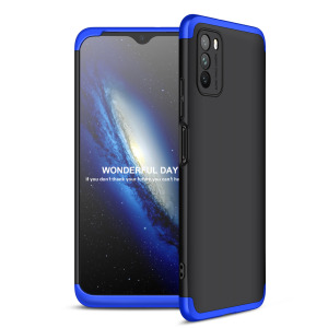 Θήκη GKK Full body Protection 360° από σκληρό πλαστικό για Xiaomi Poco M3 μαύρο / μπλε