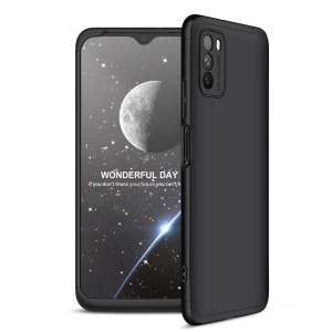 Θήκη GKK Full body Protection 360° από σκληρό πλαστικό για Xiaomi Poco M3 μαύρο