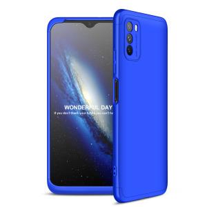 Θήκη GKK Full body Protection 360° από σκληρό πλαστικό για Xiaomi Poco M3 μπλε