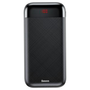 Baseus Mini Cu Power Bank 20000mAh 2x USB / USB Typ C PD 3A μαύρο (PPALL-CKU01)