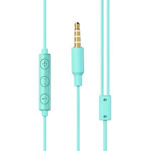 Baseus Encok H13 in-ear ακουστικά 3.5mm mini jack με τηλεχειρισμό πράσινο (NGH13-06)