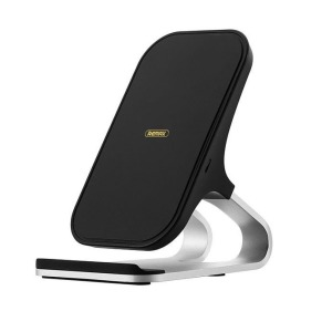 Remax Fast 10W Wireless Charging Qi Stand Desktop Holder μαύρο (RP-W12 μαύρο)