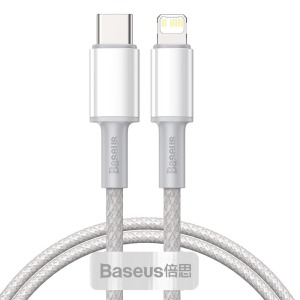 Baseus USB Type C - Lightning Καλώδιο Power Delivery fast charge 20 W 1 m λευκό (CATLGD-02)