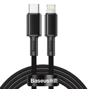 Baseus USB Type C - Lightning Καλώδιο Power Delivery fast charge 20 W 2 m μαύρο (CATLGD-A01)