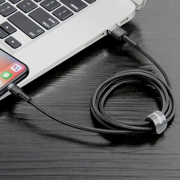Baseus Cafule Braided USB to Lightning Cable Μαύρο 3m (CALKLF-RG1) - 8