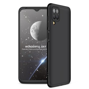 Θήκη GKK Full body Protection 360° από σκληρό πλαστικό για Samsung Galaxy A12 μαύρο