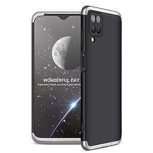 Θήκη GKK Full body Protection 360° από σκληρό πλαστικό για Samsung Galaxy A12 μαύρο / ασημί