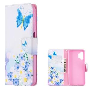 Θήκη Samsung Galaxy A32 5G OEM Blue Butterfly & Flowers με βάση στήριξης