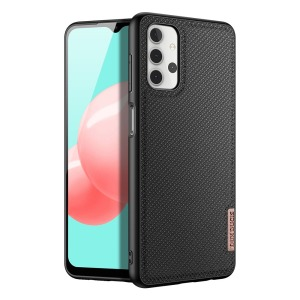 Θήκη Samsung Galaxy A32 5G DUX DUCIS Fino Series πλάτη από ύφασμα με εσωτερικό Premium TPU μαύρο