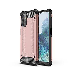 Θήκη Samsung Galaxy A32 5G OEM Armor Guard Hybrid Πλάτη από σκληρό πλαστικό και TPU ροζ χρυσό