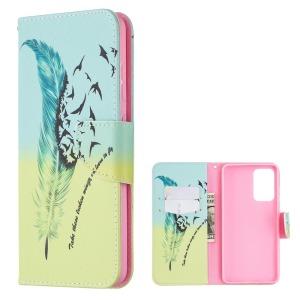 Θήκη Samsung Galaxy A52 4G / 5G OEM Feather & Birds με βάση στήριξης