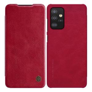 Θήκη Samsung Galaxy A52 4G / 5G NiLLkin Qin Series με υποδοχή για κάρτες Flip Wallet από σκληρό πλαστικό και συνθετικό δέρμα κόκκινο