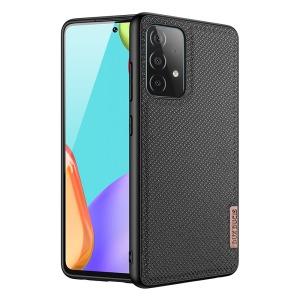 Θήκη Samsung Galaxy A52 4G / 5G DUX DUCIS Fino Series πλάτη από ύφασμα με εσωτερικό Premium TPU μαύρο