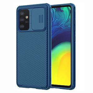 Θήκη Samsung Galaxy A52 4G / 5G NiLLkin Camshield Series Πλάτη με προστασία για την κάμερα από σκλήρό Premium TPU μπλε