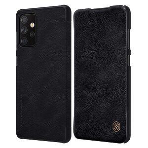 Θήκη Samsung Galaxy A72 4G / 5G NiLLkin Qin Series με υποδοχή για κάρτες Flip Wallet από σκληρό πλαστικό και συνθετικό δέρμα μαύρο