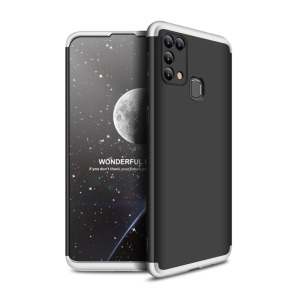 Θήκη GKK Full body Protection 360° από σκληρό πλαστικό για Samsung Galaxy Μ31 μαύρο / ασημί