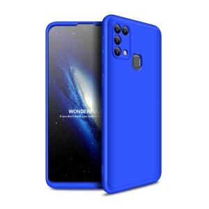 Θήκη GKK Full body Protection 360° από σκληρό πλαστικό για Samsung Galaxy Μ31 μαύρο / μπλε