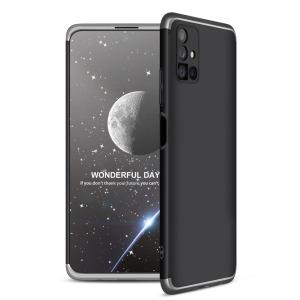 Θήκη GKK Full body Protection 360° από σκληρό πλαστικό για Samsung Galaxy Μ51 μαύρο / ασημί