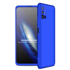 Θήκη GKK Full body Protection 360° από σκληρό πλαστικό για Samsung Galaxy Μ51 μπλε