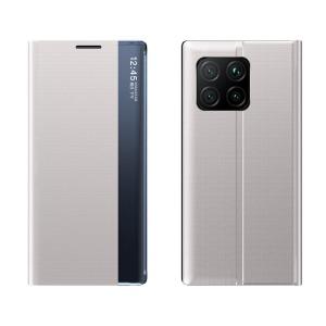 Θήκη Xiaomi Mi 11 OEM Half Mirror Active Smart View Stand Cover με μαγνητικό κούμπωμα από συνθετικό δέρμα γκρι