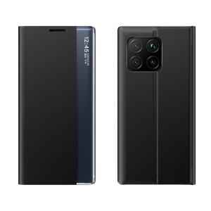 Θήκη Xiaomi Mi 11 OEM Half Mirror Active Smart View Stand Cover με μαγνητικό κούμπωμα από συνθετικό δέρμα μαύρο