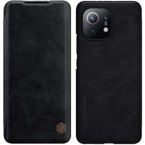 Θήκη Xiaomi Mi 11 NiLLkin Qin Series με υποδοχή για κάρτες Flip Wallet από σκληρό πλαστικό και συνθετικό δέρμα μαύρο