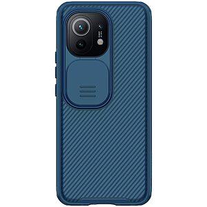 Θήκη Xiaomi Mi 11 NiLLkin Camshield Series Πλάτη με προστασία για την κάμερα από σκλήρό Premium TPU μπλε