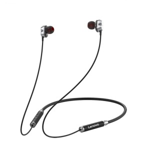 Lenovo Ακουστικά Neckband in Ear Bluetooth (Double Coil) HE08 - μαύρο