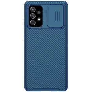 Θήκη Samsung Galaxy A72 4G / 5G NiLLkin Camshield Series Πλάτη με προστασία για την κάμερα από σκλήρό Premium TPU μπλε