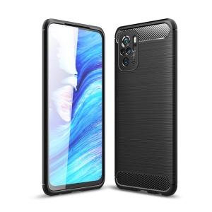 Θήκη Xiaomi Redmi Note 10 / 10S OEM Brushed TPU Carbon Πλάτη μαύρο