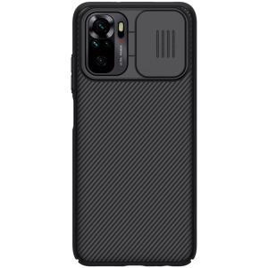 Θήκη Xiaomi Redmi Note 10 NiLLkin Camshield Series Πλάτη με προστασία για την κάμερα από σκλήρό Premium TPU μαύρο