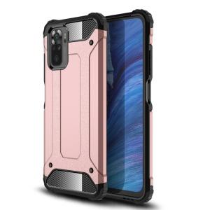 Θήκη Xiaomi Redmi Note 10 OEM Armor Guard Hybrid Πλάτη από σκληρό πλαστικό και TPU ροζ χρυσό