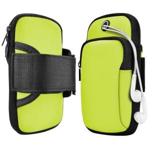 Armband για τρέξιμο για smartphone με διαστάσεις έως 78mm x 162mm x 14mm πράσινο