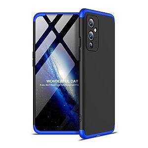 Θήκη GKK Full body Protection 360° από σκληρό πλαστικό για OnePlus 9 μαύρο / μπλε