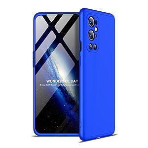 Θήκη GKK Full body Protection 360° από σκληρό πλαστικό για OnePlus 9 Pro μπλε
