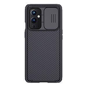 Θήκη OnePlus 9 NiLLkin Camshield Series Πλάτη με προστασία για την κάμερα από σκλήρό Premium TPU μαύρο