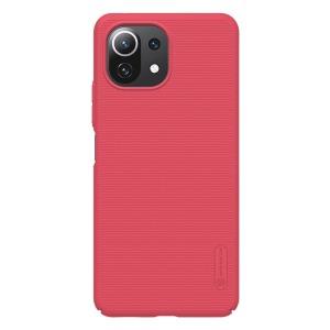 Θήκη Xiaomi Mi 11 Lite 4G / 5G NiLLkin Super Frosted Shield Series Πλάτη από Premium σκληρό πλαστικό κόκκινο