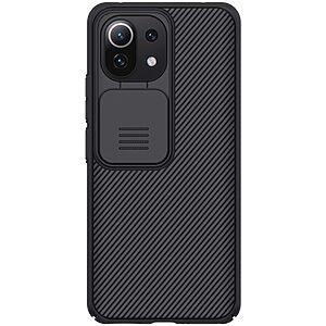 Θήκη Xiaomi Mi 11 Lite 4G / 5G NiLLkin Camshield Series Πλάτη με προστασία για την κάμερα από σκλήρό Premium TPU μαύρο