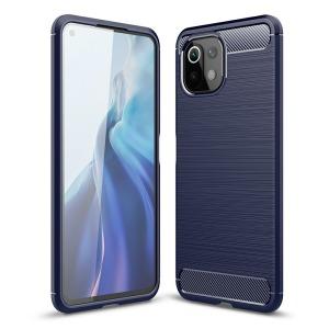 Θήκη Xiaomi Mi 11 Lite 4G / 5G OEM Brushed TPU Carbon Πλάτη μπλε σκούρο