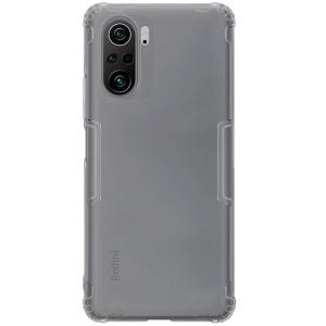 Θήκη Xiaomi Poco F3 NiLLkin Clear Series Πλάτη Shockproof edges Premium Soft TPU γκρι διάφανη