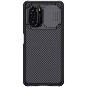Θήκη Xiaomi Poco F3 NiLLkin Camshield Series Πλάτη με προστασία για την κάμερα από σκλήρό Premium TPU μαύρο
