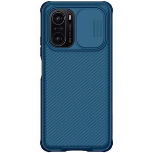 Θήκη Xiaomi Poco F3 NiLLkin Camshield Series Πλάτη με προστασία για την κάμερα από σκλήρό Premium TPU μπλε