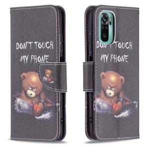 Θήκη Xiaomi Redmi Note 10 / 10S OEM Angry bear with chainsaw με βάση στήριξης