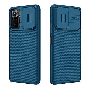 Θήκη Xiaomi Redmi Note 10 Pro NiLLkin Camshield Series Πλάτη με προστασία για την κάμερα από σκλήρό Premium TPU μπλε