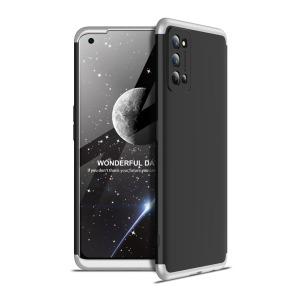 Θήκη GKK Full body Protection 360° από σκληρό πλαστικό για Realme 7 Pro μαύρο / ασημί