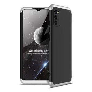 Θήκη GKK Full body Protection 360° από σκληρό πλαστικό για Samsung Galaxy A02s μαύρο / ασημί