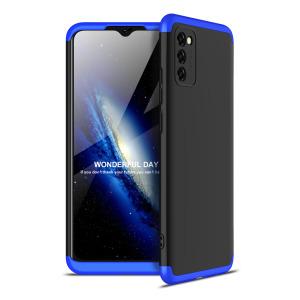 Θήκη GKK Full body Protection 360° από σκληρό πλαστικό για Samsung Galaxy A02s μαύρο / μπλε