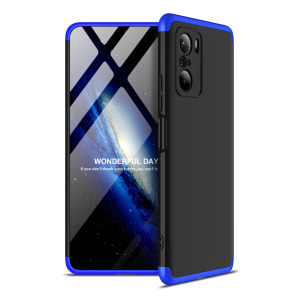 Θήκη GKK Full body Protection 360° από σκληρό πλαστικό για Xiaomi Poco F3 / Mi 11i μαύρο / μπλε